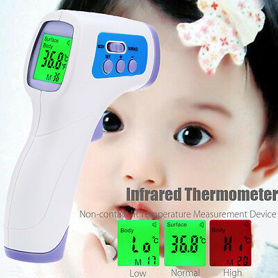 Infrared Gun Thermometer Non-contact IR BODY FOOD Temperature Measurement Device