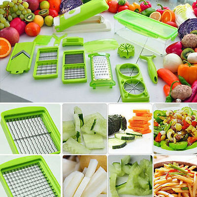 Vegetable Fruit Food Cutter Chopper Peeler 12 in 1  Slicer Dicer Graters Hot