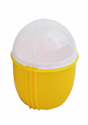 ZAP Chef Crackin Egg Single Microwave Egg Cooker Yellow Poach Scramble Gadget
