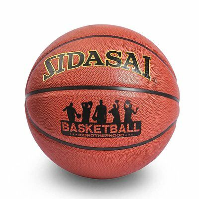 "Size 7 29.5"" Indoor Outdoor Street Basketball Durable Composite Leather Ball New"