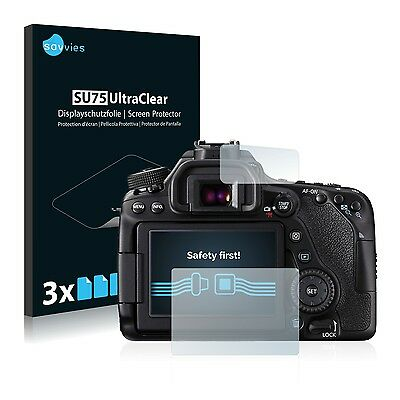 6x Savvies Screen Protector for Canon EOS 80D Ultra Clear