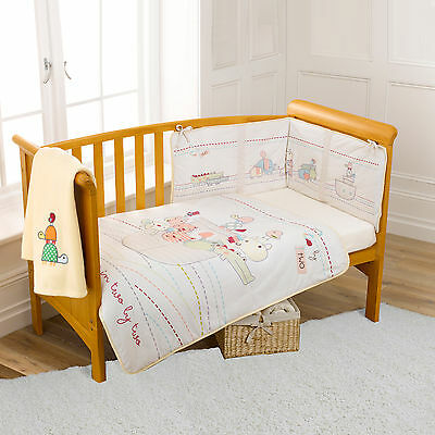 New Clair De Lune Cream Two By Two Cot / Cot Bed 4 Piece Baby Bedding Set