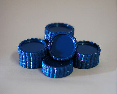 Pack of 100 Flat Blue Bottle Caps Craft and 100 Epoxy Clear Resin Domes/Dots