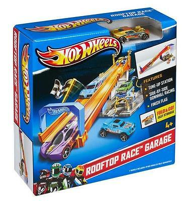 Hot Wheels - HW City Rooftop Race Garage Playset - BMG70 - New