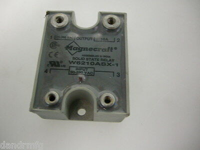 Magnecraft W6210Asx-1 Solid State Relay Output 24-280 10A Input 90-280Vac