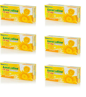 6 Months Supply of Loratadine 10mg Hayfever Tablets - 30 x 6