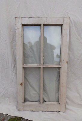 Antique Vintage 4 Lite Window Sash Shabby Cottage Chic 1846-16