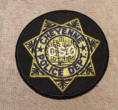 WY Cheyenne Wyoming CSO Police Patch