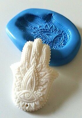HAMSA HAND Silicone Mould 51 mm Icing Polymer Clay Sugarpaste Cake Decorate Fimo
