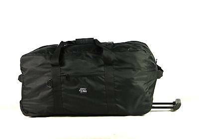 Large Rolling Duffel Wheeled Duffle, New RD030 BLACK