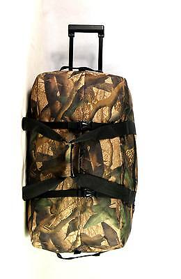 "New 30"" Large Rolling Duffle Wheeled Travel Duffel, CAMOFLOUGE"
