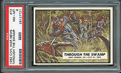 1962 Civil War News #73 Through the Swamp PSA 8