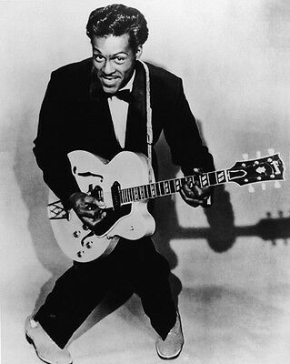 American Blues Singer CHUCK BERRY Glossy 8x10 Photo Music Guitarist Print