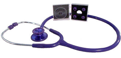 Stethoscope - Purple with Matching Bling Chest-piece - Deluxe-Lite