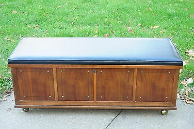 Large Vintage Midcentury Modern LANE Cedar Chest Trunk Bench Seat 1960's Rolling