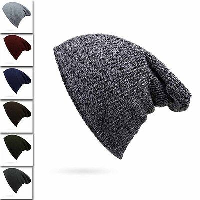 Knit Winter Women Men Beanie Hat Oversize Slouchy Baggy Unisex Ski Cap Skull NEW