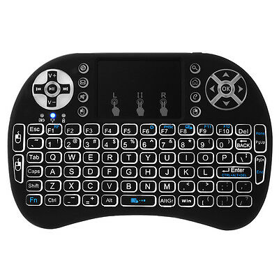 i8 Mini Wireless Keyboard Mouse Backlight Touchpad para Xbox 360 PS3 HTPC AC397