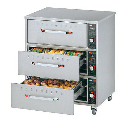 Hatco HDW-3 Warming Drawer with 3 Drawers and Stainless Steel Construction