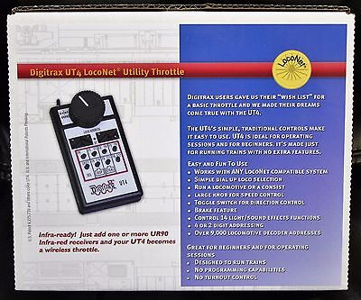 Any Scale DIGITRAX  UT4 LocoNet Utility Throttle * Infra-Ready - Just add a UR90