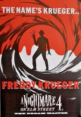 A Nightmare 4-Freddy Krueger.Vintage Poster FREE INT.SHIPPING