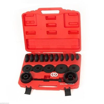 FWD Front Wheel Drive Bearing Removal Adapter Puller Pulley Tool Kit w/Case 23PC