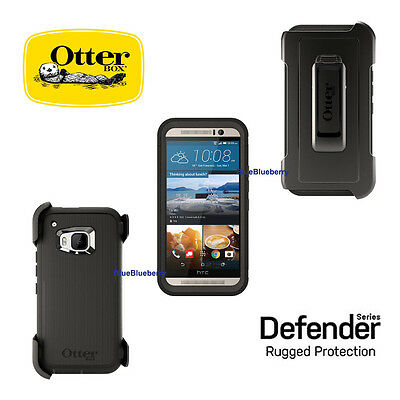 Otterbox Defender HTC One M9 Shell Case+Holster Belt Clip Black New