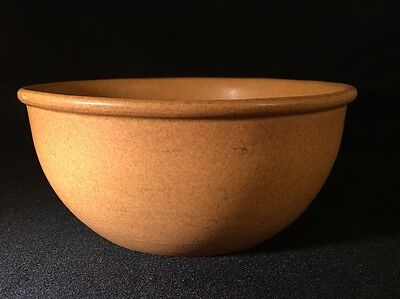 Vintage Bennington Pottery Mixing Bowl Mustard Speckled Color Made in Vermont