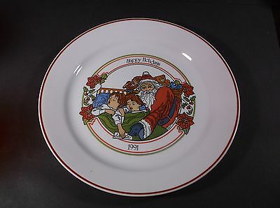 Corning Corelle 1991 Happy Holidays collector plate