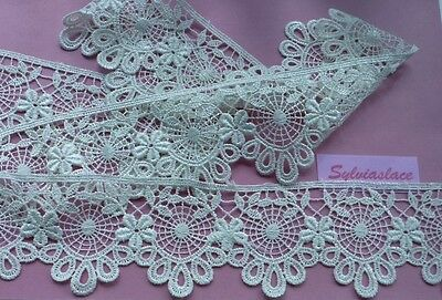 2  metres  of  Beautiful   Cream  Guipure  Lace     6 cm   Wide