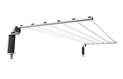 NEW VERSALINE BROADLINE CLOTHES LINE Folding Wall Mounted Indoor Outdoor 5m Long