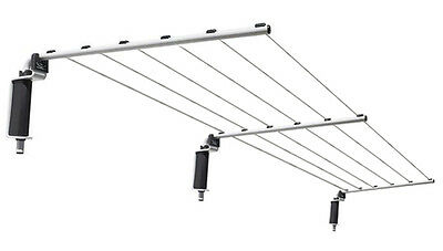 NEW VERSALINE Long Washing Clothes Line Folding Wall Mounted Outdoor To 7.5metre