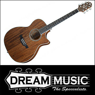 Crafter TE6 MH/BR Orchestra Solid Mahogany Top Electro-Acoustic RRP$649