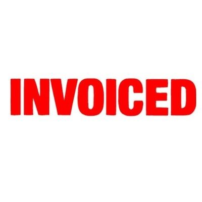 1x XStamper INVOICED Red Self Inking Stamp  5015320.