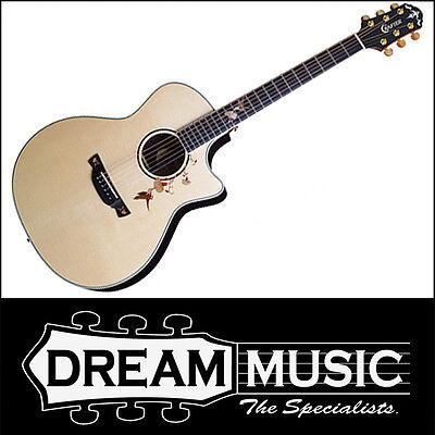 Crafter TB-ROSE Twin Bird Pickup Cutaway Natural Gloss Electro-Acoustic RRP$1699