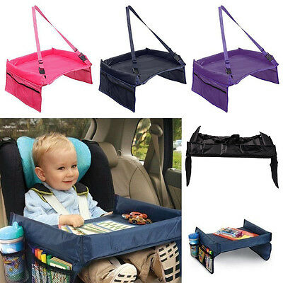 Baby Car Safety Seat Snack & Play Lap Tray Portable Table Kid Travel 4 Colors