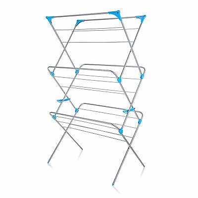 Minky Extra Wide 3 Tier Airer in Silver
