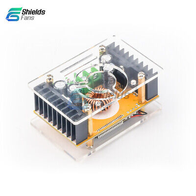 10A DC-DC Adjustable CC CV Step UP Power Supply Module LCD Dual Display + Case