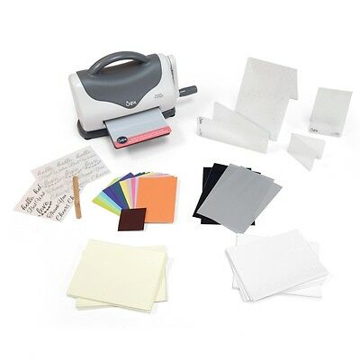 Sizzix Texture Boutique Embossing Maschine Starter Kit (White & Gray)