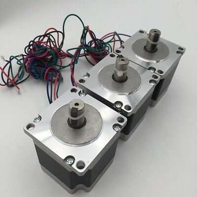3pcs/lot Nema23 1.2Nm Stepper Motor with Keyway 3A L56mm 4-Lead CNC Router