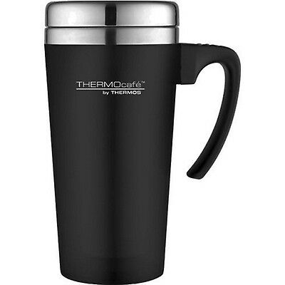 THERMOS Zest TRAVEL MUG 420ml BLACK Non-Spill Insulated Tea Coffee Thermal Cup