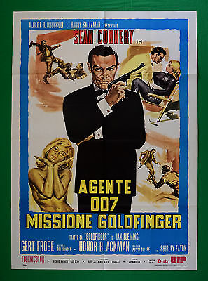 M32 Manifesto 2F James Bond 007 Sean Connery Missione Goldfinger