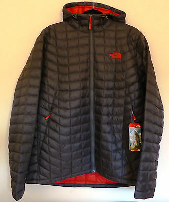 The North Face Men's THERMOBALL HOODIE Hooded Insulated Jacket Asphalt Grey XL