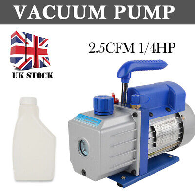 2.5CFM 1/4HP Single Stage Vacuum Pump Air Conditioning Refrigeration Vacuum 5Pa