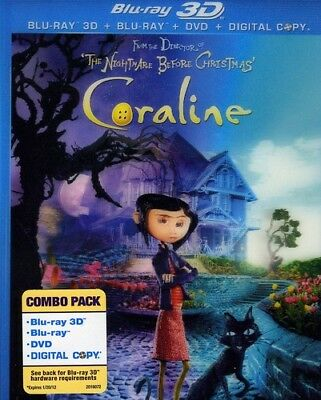 Coraline [New Blu-ray 3D] With DVD, Widescreen, 3D, Ac-3/Dolby Digital, Dolby,