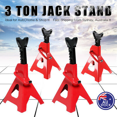 AU 4pcs Car Jack Stand 3T 3000kg Ratchet Adjustable Lift Hoist Heavy Duty Steel
