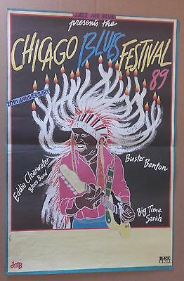 AFFICHE SPECTACLE : Chicago Blues Festival 20th Anniversary 1989