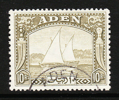 ADEN 1937 10r OLIVE-GREEN SG 12 FINE USED.
