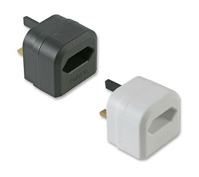 2 Pin to 3 Pin UK Battery Charger Adaptor 3A Plug for Shaver & Oral-B Toothbrush