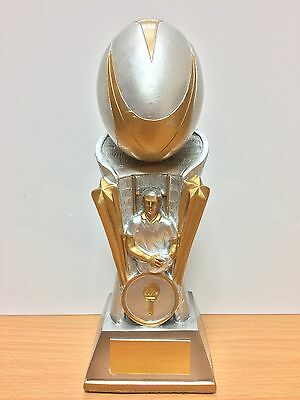Column Rugby Trophy,Silver & Gold,175mm(TMW0033)cl **SPECIAL OFFER****