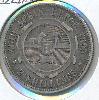 South Africa 2 Shillings 1895 - VF